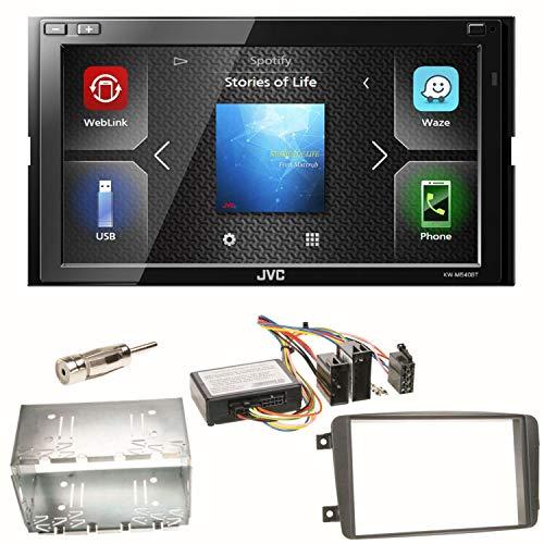 JVC KW-M540BT Bluetooth USB Autoradio Moniceiver Freisprecheinrichtung Doppel DIN Einbauset für Mercedes C-Klasse W203 CLK W208 W209