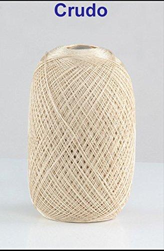 Hilo 100% algodón egipcio,color beige número 5 especialmente diseñada para las temporadas de primavera verano. Este hilo de algodón de calidad extra tiene un brillo precioso y un tacto muy suave. Este tipo de hilo soporta infinidad de lavados sin per...