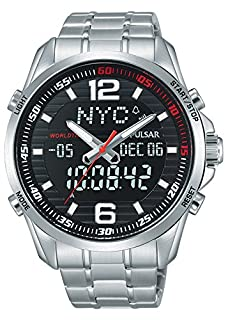 Pulsar Montre Mixte Analogique avec Bracelet en Acier Inoxydable Plaqué - PZ4001X1 (B01KM08FZY) | Amazon price tracker / tracking, Amazon price history charts, Amazon price watches, Amazon price drop alerts