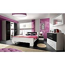 suchergebnis auf amazon.de für: schlafzimmer komplett weiß hochglanz - Schlafzimmer Komplett Schwarz Weiss