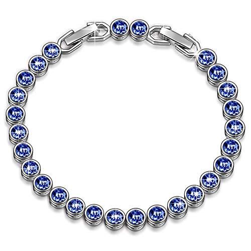 Susan y sogno oceano bracciale donna con cristalli da swarovski blu gioielli regalo compleanno festa della mamma san valentino regalo natale regali per lei amica anniversario moglie figlia