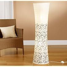 Trango - Lámpara de pie, pantalla de papel de arroz, diseño moderno, 125x 35cm