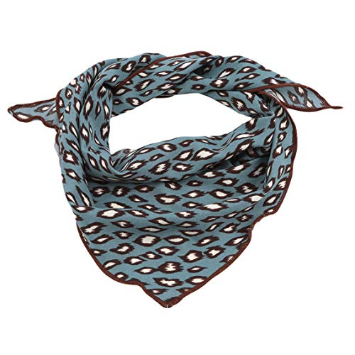Weiy Schal Stirnband Frauen Elegant Square Silk Feel Satin Leopard Schal Skinny Retro Kopf Hals Haargummi Band Schals Stirnband Frauen
