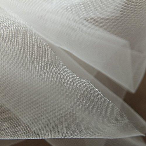 Rollo de tul súper fino marfil, tela de tul suave, 150cm de ancho, tela delicada, venta por metro, para fiesta de graduación, debajo de falda, velo