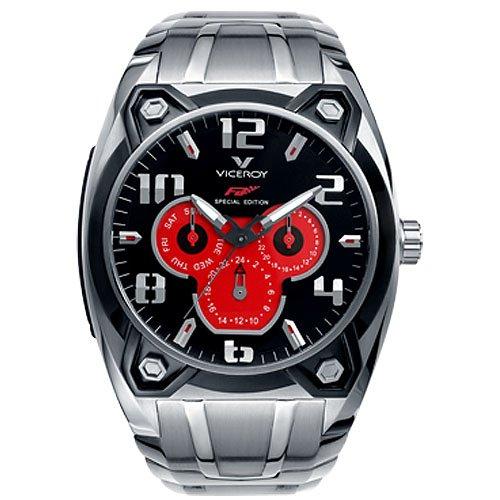 Viceroy 47627–75–Reloj de pulsera de hombre, correa de acero inoxidable