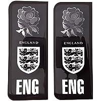 Angleterre trois Lions badge Autocollant de plaque d'immatriculation Noir et blanc ENG Rose Drapeau Gel 3d Résine en forme de dôme