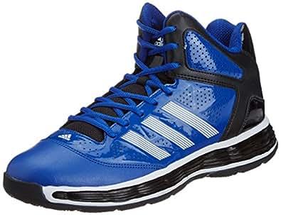 adidas Men's Tyrant Blue Leather Basketball Shoes - 10 UK