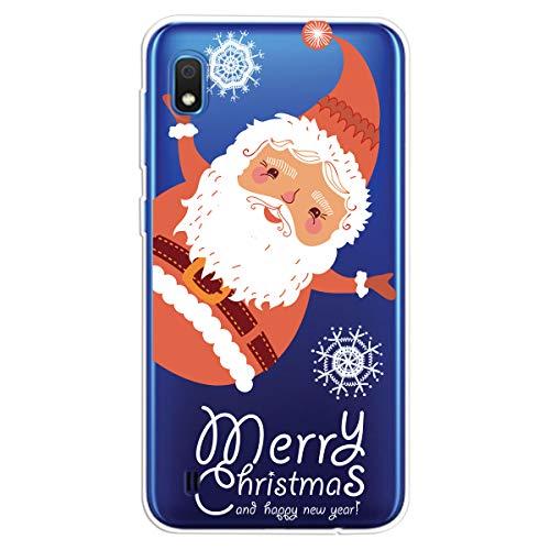 ChoosEU Compatible für Samsung Galaxy A10 2019 Hülle Silikon Muster Handyhülle für Weihnachtsmann Mädchen Frau Mann, Dünn Silikonhülle Stoßfest Slim Case Schutzhülle Soft Cover Weihnachts-Serie - C