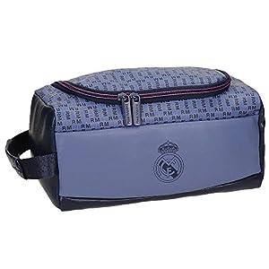Real Madrid Blue RM Neceser de Viaje, 26 cm, 6.24 litros, Morado