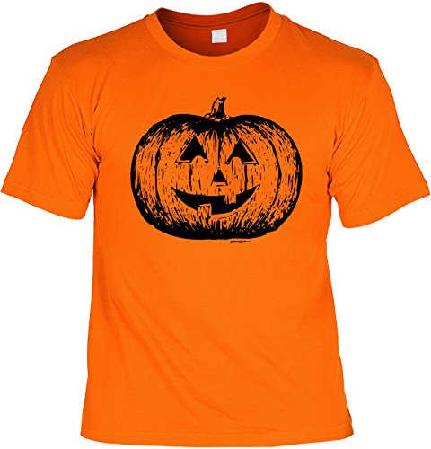 Halloween T-Shirt - Klassischer Kürbis orange - gruseliges Shirt als lustige Alternative zum Halloween (Monster Kostüm Ideen Herren)