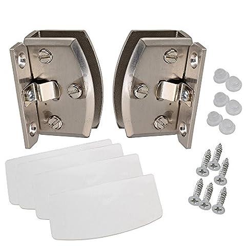 90°C côté Support Porte en Verre Placard Charnière de serrage pour 8–10mm épaisseur