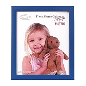 Inov8 British Made Traditional Picture/Photo Frame, Royal Blue, 10x8 Inch