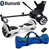 """Nero Sport Bluetooth 6.5"""" Hover Scooter Board Self Balance with Hoverkart Go-Kart attachment"""