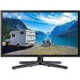 Reflexion LEDW-22 Wide-Screen LED-Fernseher (22 Zoll) für Wohnmobile mit DVB-T2 HD, Triple-Tuner und 12 Volt Kfz-Adapter (Full HD, HDMI, USB, EPG, CI+, DVB-T Antenne), schwarz