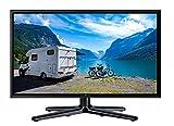 Reflexion LEDW-22 Wide-Screen LED-Fernseher (22 Zoll) für Wohnmobile mit DVB-T2 HD, Triple-Tuner und 12 Volt Kfz-Adapter (12 V / 24 V, Full HD, HDMI, USB, EPG, CI+, DVB-T Antenne), schwarz