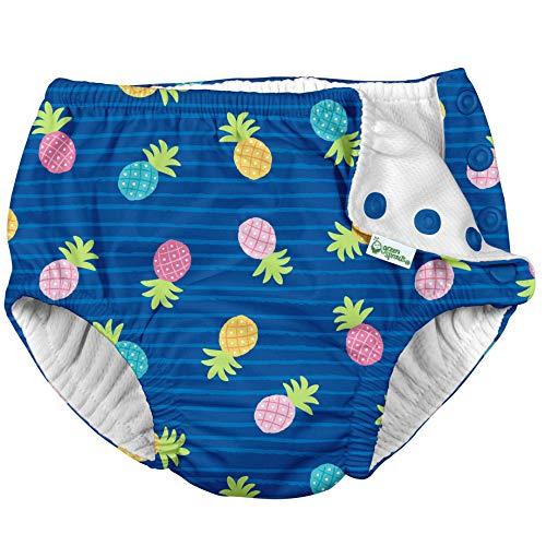 i play. 721150-609-47 Schwimmwindel - blau Ananas - 3T (2-3 Jahre)