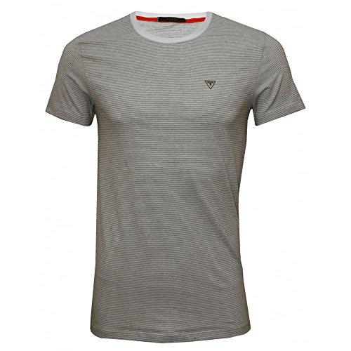 T-shirt Guess Righe Sottili Girocollo Uomo, Nero/bianco Bianco/Nero