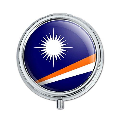 Land Marshall-inseln (Die Marshall Inseln National Land Flagge Pille Fall Schmuckkästchen Geschenk-Box)