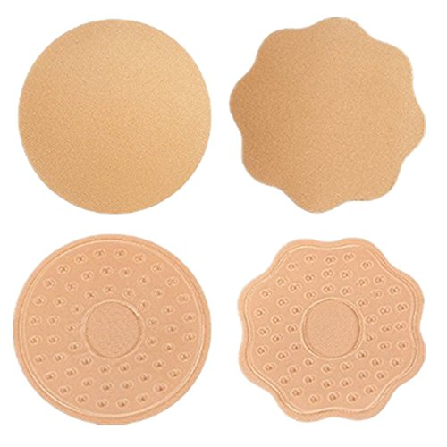 Cache-Téton Mamelon Invisible Réutilisable - 2 Paires Bra Adhésif Nipple Cover Soutien Gorge