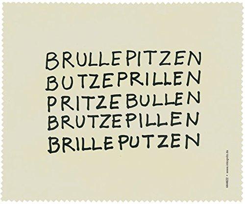 Brillenputztuch 17 x 15 cm • 44622 ''Brullepitzen'' von Inkognito • Künstler: INKOGNITO © Nele Andresen