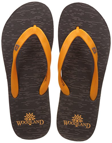 Woodland Men's Grey Flip Flops Thong Sandals - 8 UK/India (42 EU)  available at amazon for Rs.349