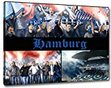 Ultras Hamburg Format: 100x70, Bild auf Leinwand XL, fertig gerahmt
