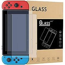 Maexus Nintendo Switch Schutzfolie, 2 Stück Switch Gehärtetem Glas Screen Protector Anti-Water,Oil für Nintendo Switch Konsole