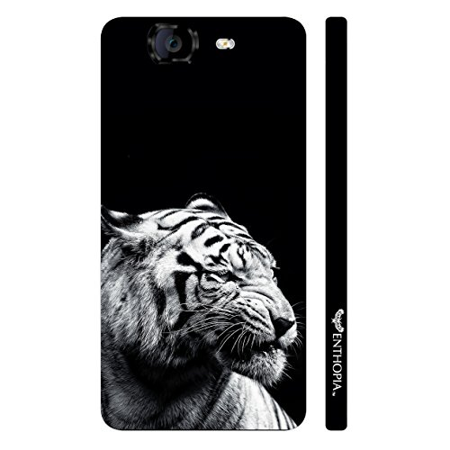 Enthopia Designer Hardshell Case Distracted White Tiger Back Cover for Micromax Canvas Knight A350  available at amazon for Rs.95