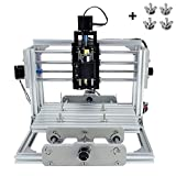 TopDirect CNC Fräsmaschine, Arbeitsbereich: 240 * 170 * 65mm, DIY CNC Router Maschine 3 Achsen Mini Holz PCB Acryl Fräsmaschine Metall Gravur Carving Maschine