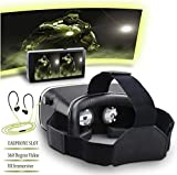 Virtual Reality Headset | VR Box 3D | VR box | 3D virtual reality | 3D Glass Box | 3D VR headset | VR Box with headset| Headmounted Wearable | Most Comfortable Kit | 360 Degree Panoramic View | Suitable For 4-6 inch Smartphones | Premium IMAX 3D Cinema | Immersive Gaming Experience | Innovative Technology For Android IOS Apple iPhone Samsung Sony HTC Gionee Oppo Oneplus iBall Vivo Intex Micromax