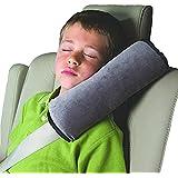 JUNGEN Coche Almohada Cinturón de Seguridad Hombro Almohadillas Proteger Cabeza de Hombro Cojín de Protección Para Niños Dormir (Gris)