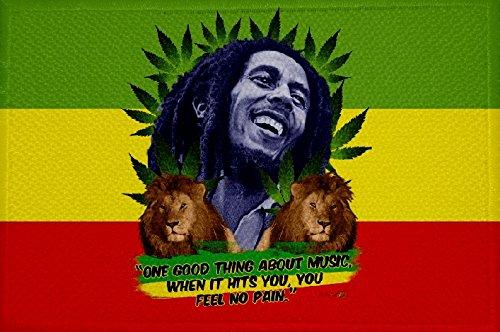 Preisvergleich Produktbild U24 Aufnäher Hanf Bob Marley Reggae Fahne Flagge Aufbügler Patch 9 x 6 cm