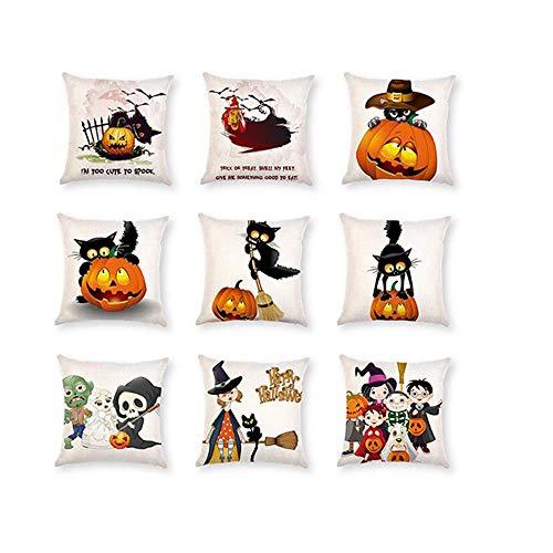 XGuangage 9Happy Halloween Kürbis Kissen Baumwolle Leinen Sofa Home Decor Werfen Kissen Fall Bezüge