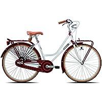 Legnano Ciclo 201, Bicicleta Vintage Mujer, Mujer, Ciclo 201, Blanco/Rojo, 44
