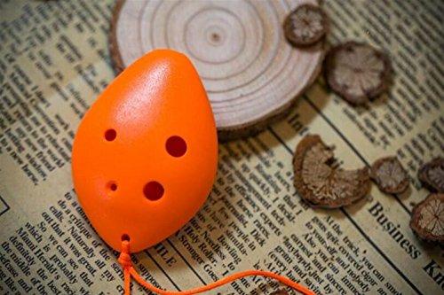 Weekendy Kinder Spielzeug Geschenk 6-Loch-Diskant C-Ton Kunststoffflöten mit Lanyard (Orange)