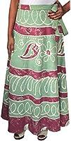 Batik Drucken Langer Rock Indien Wrap Womens Cotton Indische Kleidung