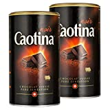 Caotina noir, Poudre de Cacao avec du Chocolat Noir Suisse, Chocolat Chaud, Lot de 2, 2 x 500g
