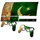 Pakistan, Designfolie Sticker Skin Aufkleber Schutzfolie mit Farbenfrohem Design für PlayStation 3 Fat