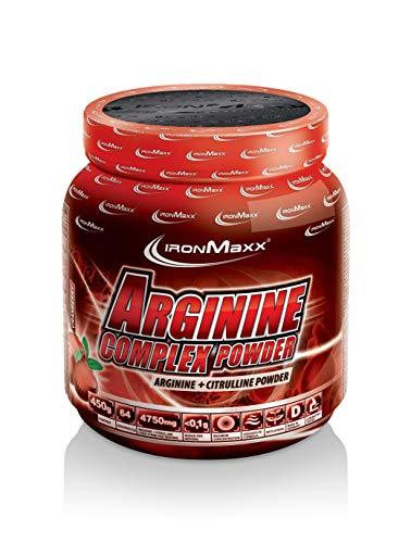IronMaxx Arginine Complex Powder – Hohe Konzentration von L-Arginin und L-Citrullin Aminosäuren – Muskelaufbau, Kraftaufbau, Ausdauertraining – Trainingsboost – Cranberry Flavour – Pulver – 1er Pack