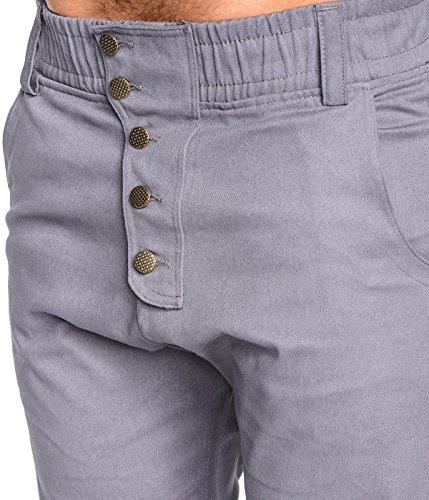 Betterstylz CliffBZ Homme Chino-Jogger Pantalon Chino Èlégant fermeture éclair 4 couleurs (S-XXL) Gris