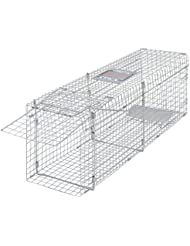 vidaXL Trampa galvanizada para capturar animales vivos 100 cm ratonera jaula jardín