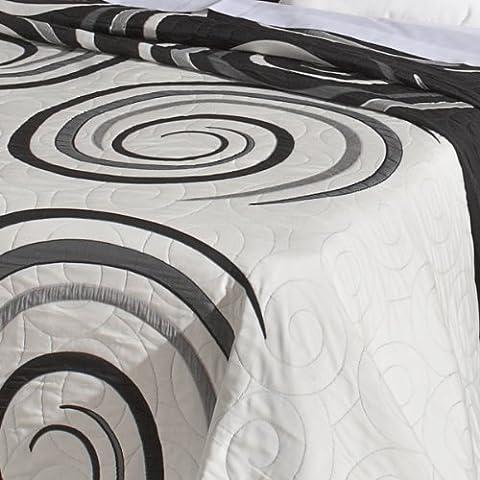 San Carlos Selin - Colcha, doble tela, reversible, esquinas redondeadas, color negro