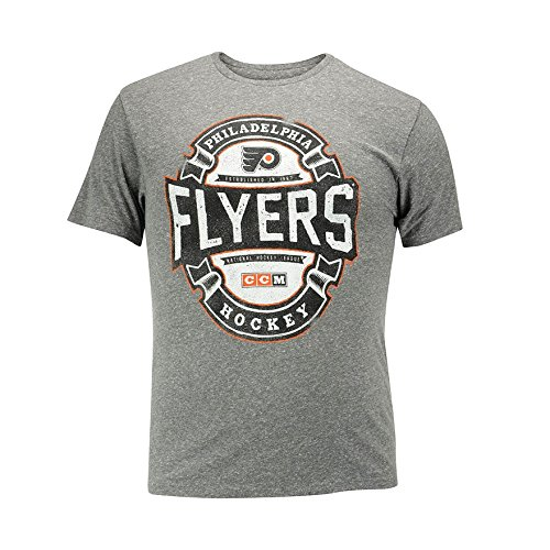 CCM Philadelphia Flyers Game Tested NHL T-Shirt Grau S (Philadelphia Herren Flyers T-shirt)