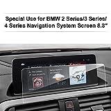 LFOTPP BMW Série 3 4 8,8 Pouces Navigation Verre Trempé - Dureté 9H Film Protection GPS Nav Écran Protecteur Vitre