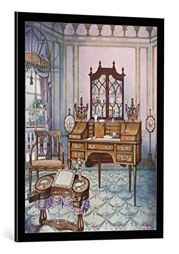 cuadro-con-marco-edwin-john-foley-inlaid-mahogany-cylinder-fall-china-and-book-case-d-shaped-satinwo