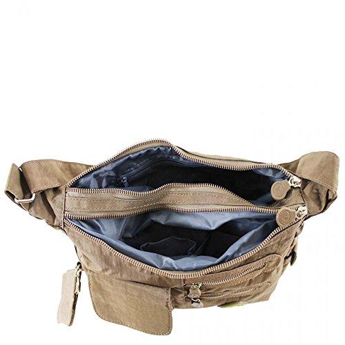 LeahWard® Klein Größe Damen Nylon Schultertaschen Groß Marke Handtaschen Water Proof Tote Zum Damen BURGUNDY H21cm x W33cm x D10cm