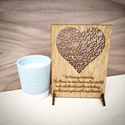 In Loving Memory Sign, Personalised Wedding Remembrance Sign, Wooden Wedding Sign with Hearts, Wedding Memory Plaque