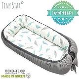 TinyStar: Multifunktionales Babynest Nestchen, Reisebett Für Baby 2 - seitig Kuschelnest 0-6 Monate Grau