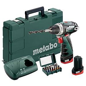 Metabo 600080920 Akku-Bohrschrauber klein PowerMaxx BS Basic Set 10.8V, 2x 2Ah Li-Ion Akkus, inklu. Ladegerät, im Koffer…