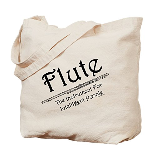 CafePress–Intelligente Flöte–Leinwand Natur Tasche, Reinigungstuch Einkaufstasche Tote S khaki